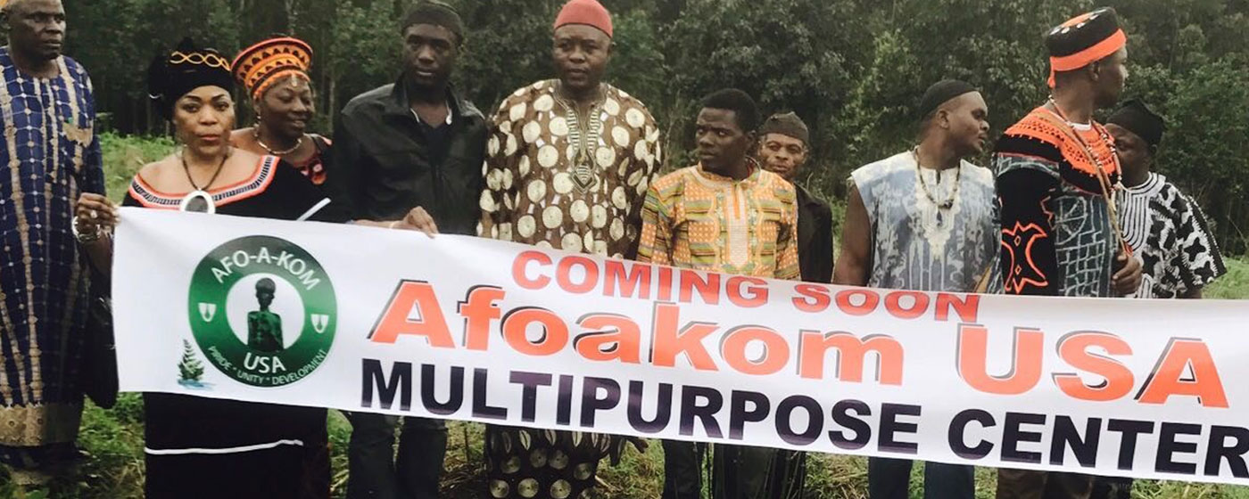 His Royal Highness Fon Vincent Yuh II Donates land to AFOaKOM USA for the 2017 - 2018 Project.
